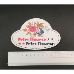 Peter Flowers adesivo anni...