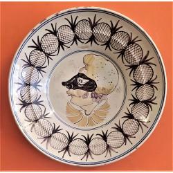 Piatto in ceramica smaltata...